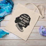 Ruth Bader Ginsburg Quote Cotton Canvas 12oz Tote Bag