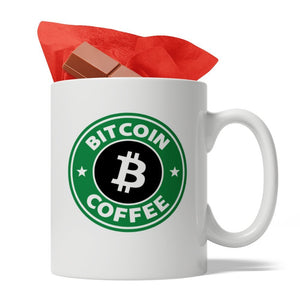 Bitcoin Coffee - Ceramic Coffee Mug, 11-Ounce, White