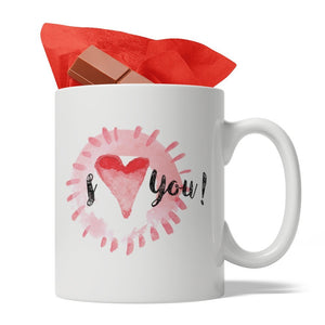 I Love You Ceramic Coffee Mug, 11-Ounce White, Ideal way to say: I love you