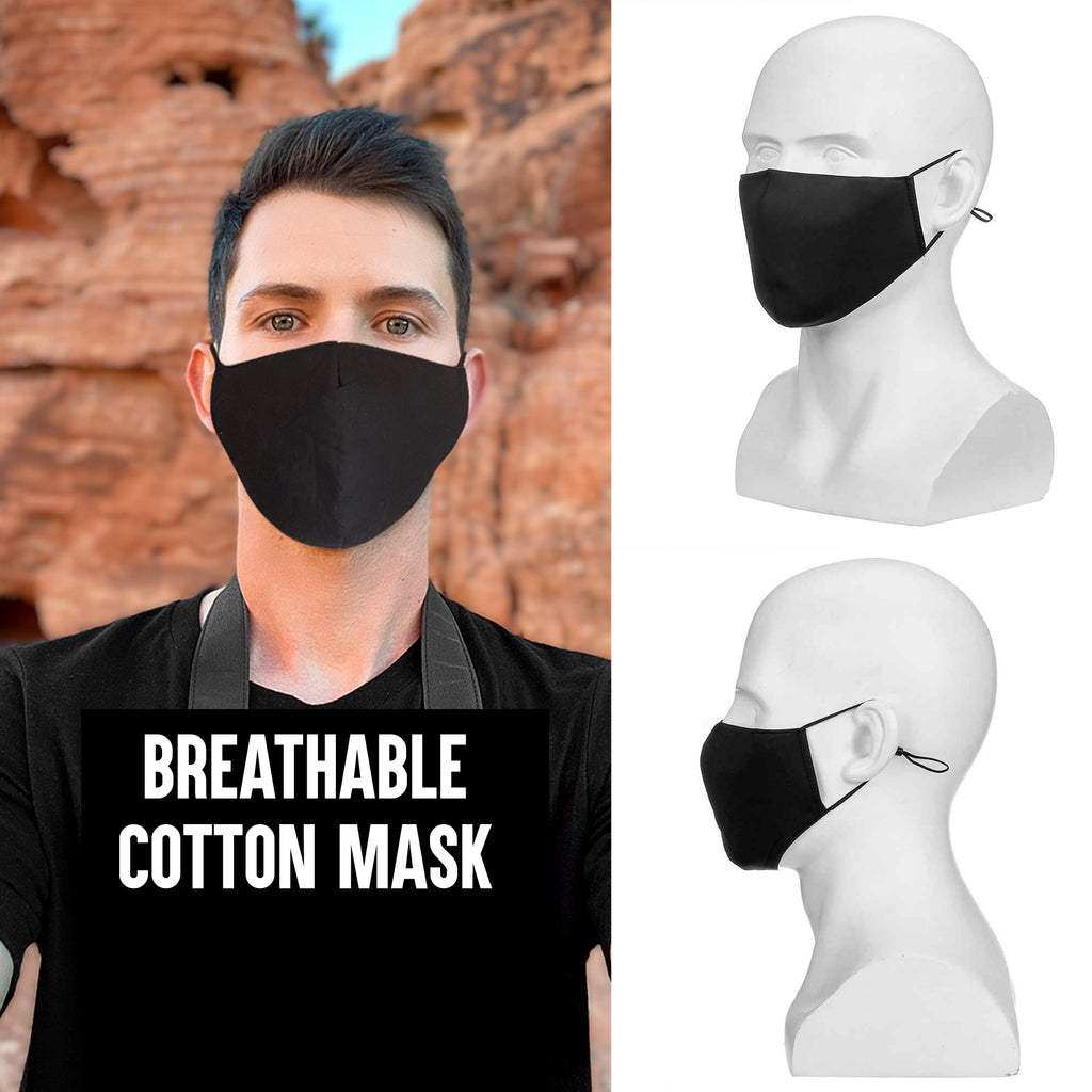 Adjustable and Washable Cotton FaceMask Anti Dust Face Cover for Men and Women