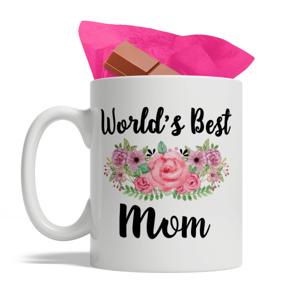 World's Best Mom - Adorable Ceramic Coffee Mug, 11oz, Mother's Day Gift Idea