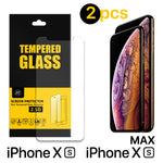 iPhone X, XS, XS Max, XR Tempered Glass Screen Protector-2 Pack