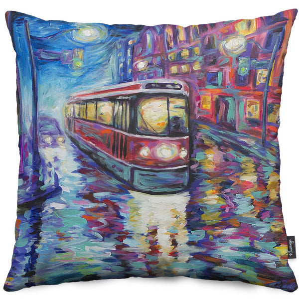 Crossing Yonge Throw Pillow