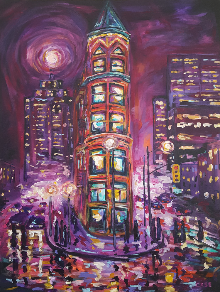 Crossing Flatiron painting by Casey O'Neill