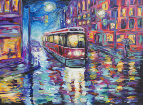Crossing Yonge painting by Casey O'Neill