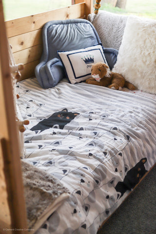 Stripe Bear Throw by Lush Decor