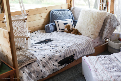 Stripe Bear Throw