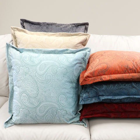 Colorful decorative pillows on a couch