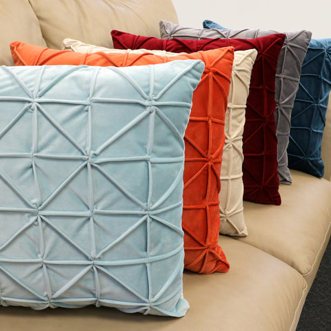 Colorful decorative pillows by Lush Decor