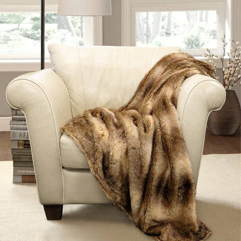 Lush Decor Graham Fur Throw