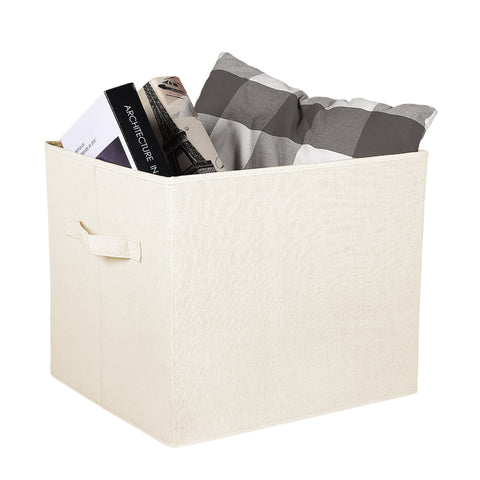 Linen Fabric Covered Storage Box Set