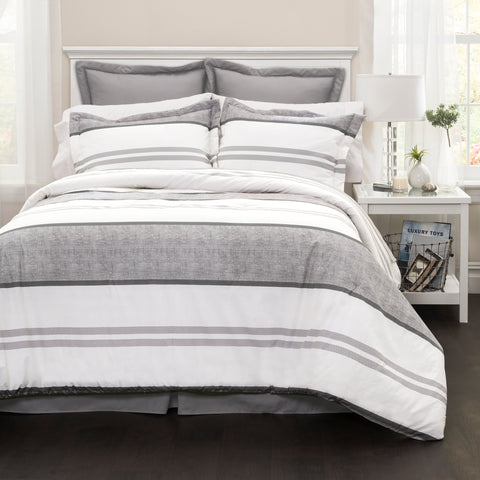 Hena Stripe Comforter Set