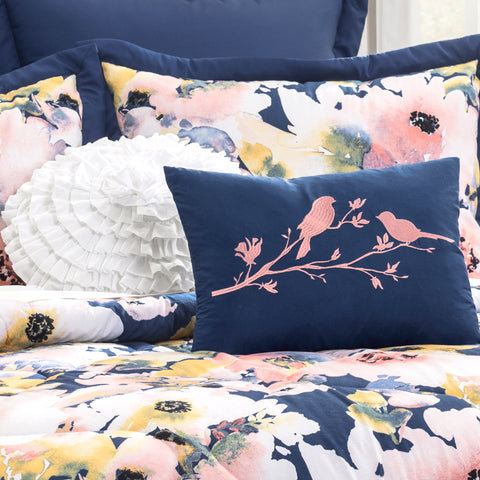 Floral Watercolor Comforter Set by Lush Decor