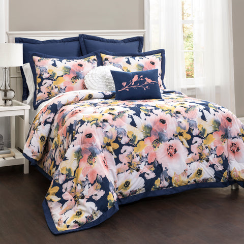 Floral Watercolor Comforter Set