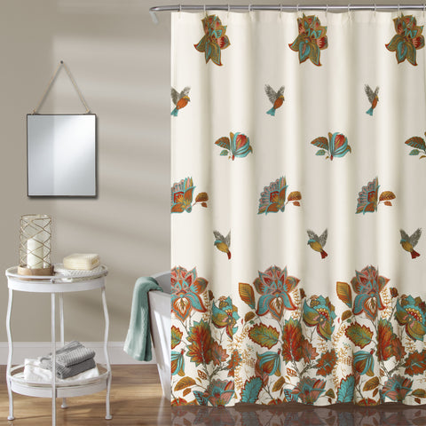 Bird & Flower Shower Curtain by Lush Decor