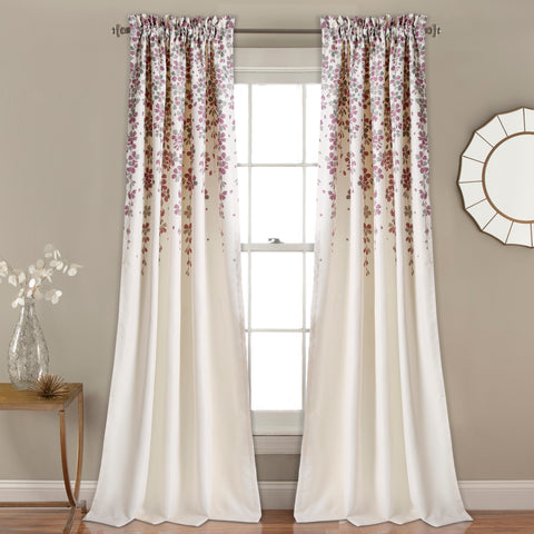 Weeping Flower Room Darkening Window Curtains by Lush Decor