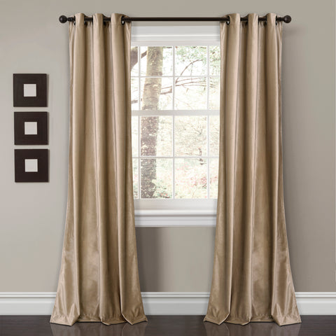 Prima Velvet Solid Curtains