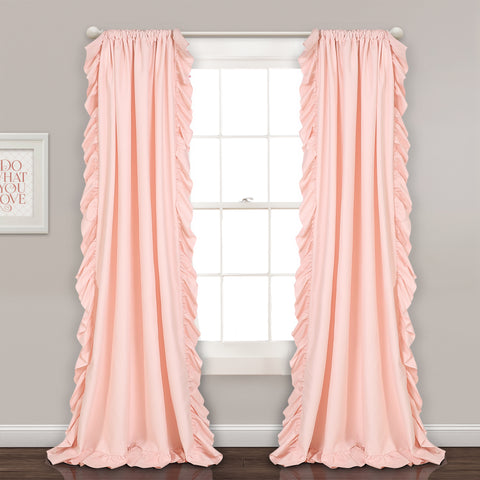 Reyna Window Curtains Pink Blush
