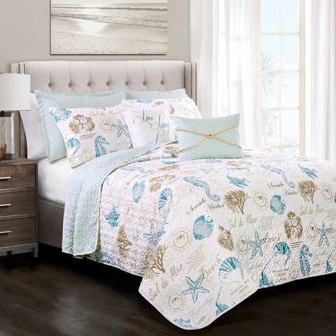 Harbor Life Coastal Quilt Set by Lush Decor