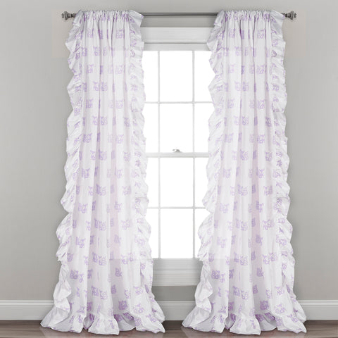 Ruffle Fox Window Curtains