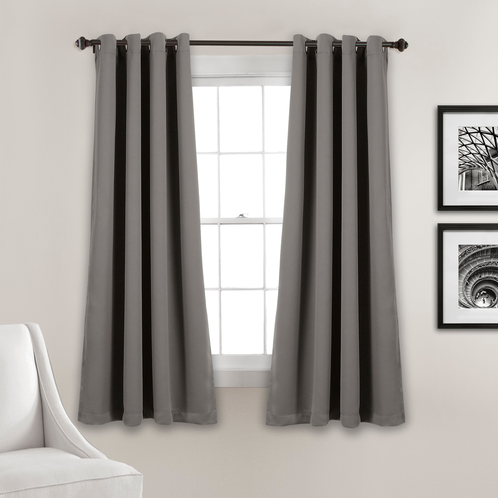 Insulated Grommet Blackout Curtain Panel Set by Lush Decor