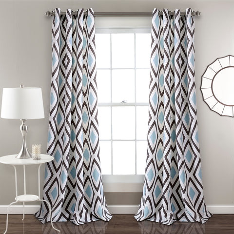 Kevin Diamond Room Darkening Curtains by Lush Decor
