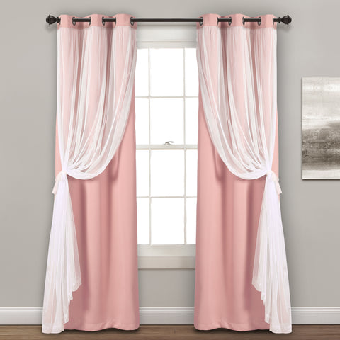 Grommet Sheer With Insulated Blackout Curtains by Lush Decor