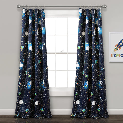 Universe Room Darkening Window Curtains