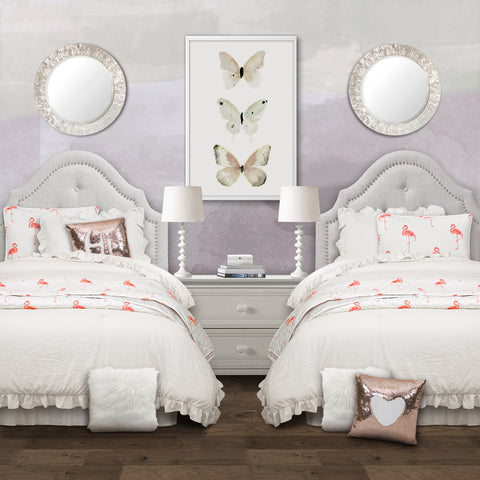 Reyna Comforter Set with Kelly Flamingo Quilt Set