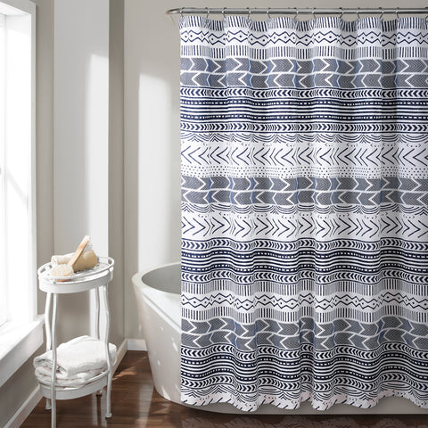 Hygge Geo Shower Curtain by Lush Decor