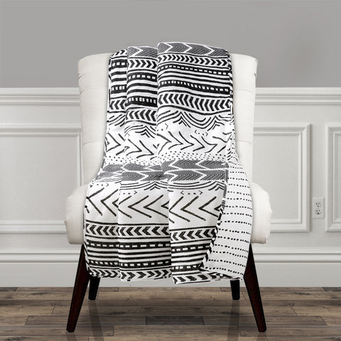 Hygge Geo Reversible Cotton Throw by Lush Decor