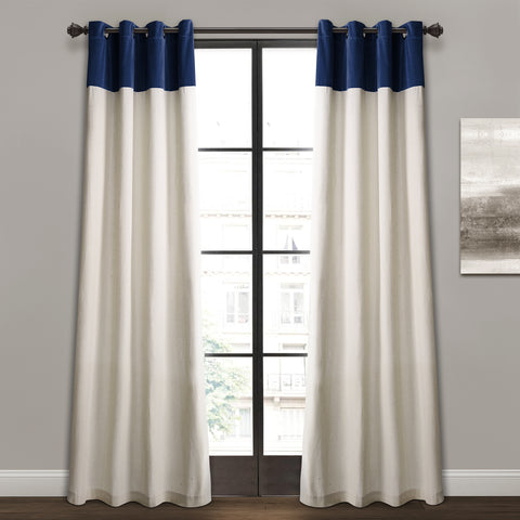Milo Linen and faux velvet curtains