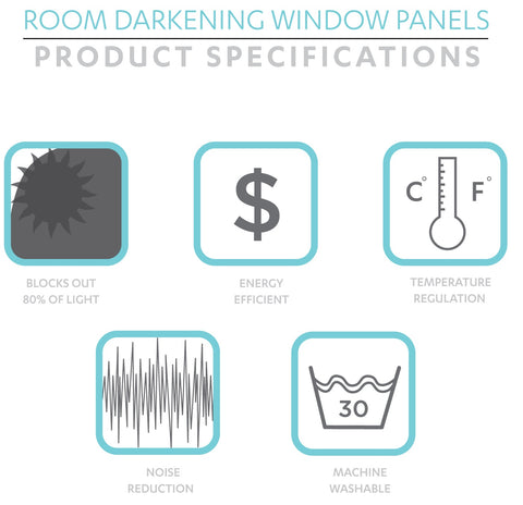 Room Darkening Curtains Specifications