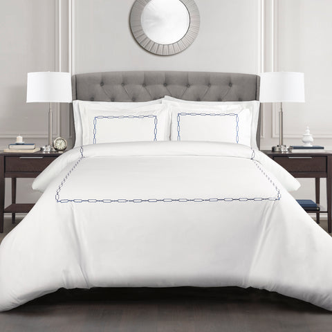 Hotel Geo Duvet Cover Set by Lush Decor