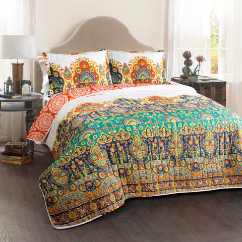 Bohemian Meadow Quilt Set by Lush Decor