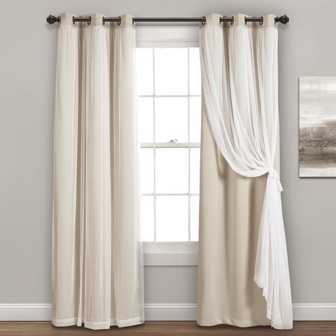 Grommet Sheer With Insulated Blackout Lining Curtains by Lush Decor
