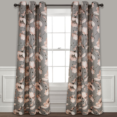 Delsey Floral Blackout Curtains by Lush Decor
