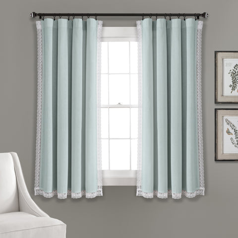 Blue Window Curtains by Lush Decor