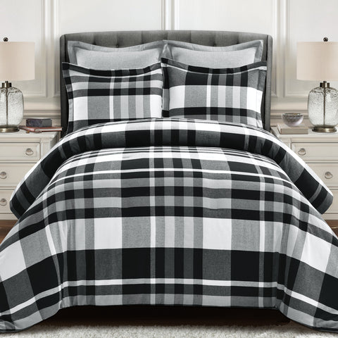 Farmhouse Yarn Dyed Plaid Comforter Set by Lush Decor