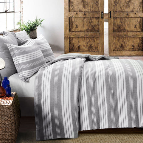 Farmhouse Yarn Dyed Stripe Comforter 5 Piece Set by Lush Decor