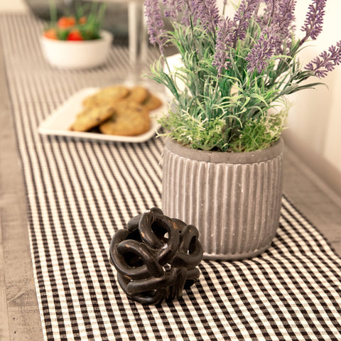 Gingham Check Table Runner by Lush Decor