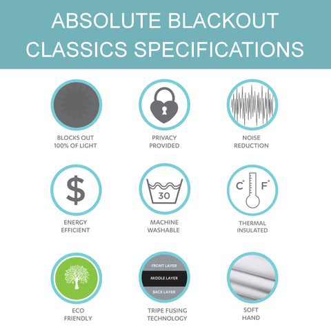 Benefits of our Absolute Blackout Window Curtains