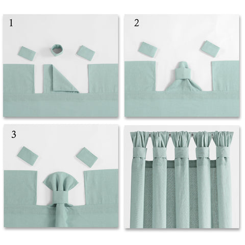 How to Install Knotted Tab Top Curtains