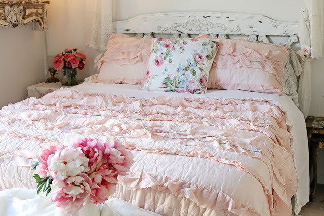 Belle Quilt Pink Blush Set by Lush Decor
