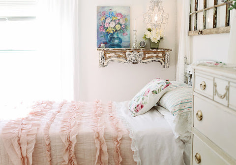 Belle Quilt Set Pink Blush by Lush Decor