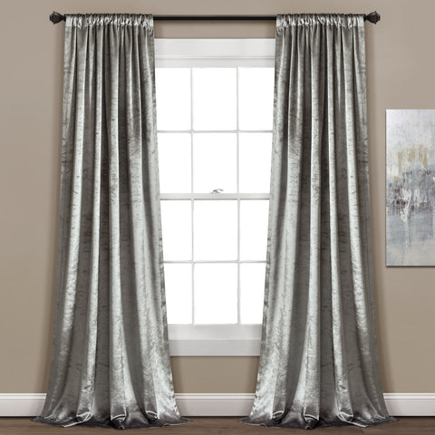 Velvet Dreams Silver Bells Window Curtains by Lush Decor