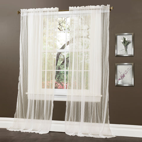Lola sheer curtains by Lush Decor