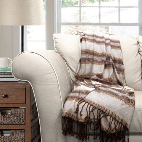 Bamboo Throw Blanket by Lush Decor