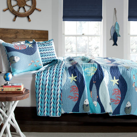 Sea Life Quilt Set by Lush Decor