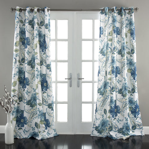 Floral Paisley Window Curtains